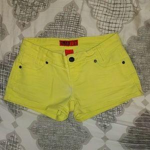 Women's Zanadi Yellow Shorts